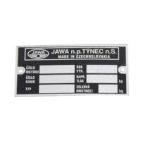 Tabliczka znamionowa Jawa 634 pusta