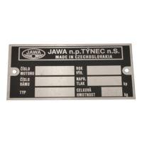 Tabliczka znamionowa Jawa 634 czeska