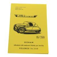 Katalog części Velorex 16/350 A5 53 str