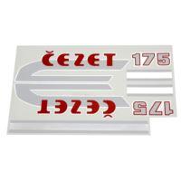 Naklejki CZ 175 chrom