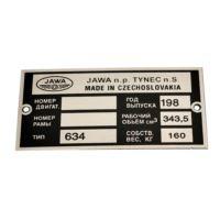 Tabliczka znamionowa Jawa 634
